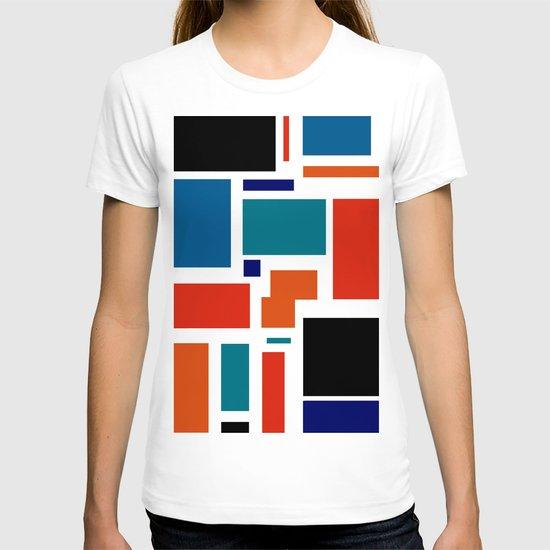 Modern Mondrian (white) T-shirt