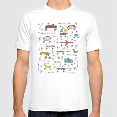 things with wheels SMALL Mens Fitted Tee White