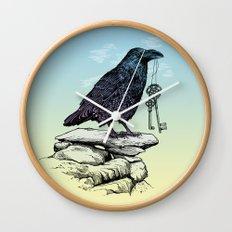 Raven's Keys Wall Clock