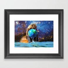 Give Planet Earth A Bear Hug! Framed Art Print