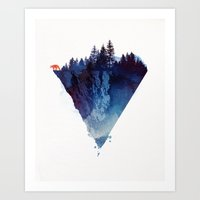 fox Art Prints featuring Near to the edge by Robert Farkas