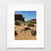 Monument Valley Horse Carcass Framed Art Print