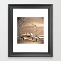 A day in the city Framed Art Print