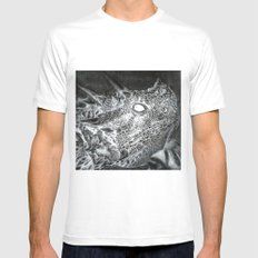 The Horned Lizard. SMALL White Mens Fitted Tee