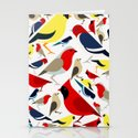The birds from the colorful world Stationery Cards