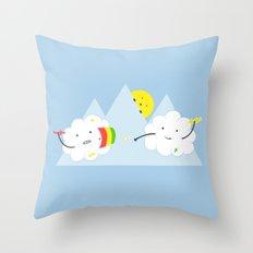 Cloud Fight Throw Pillow