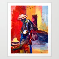 Hats for sale Art Print