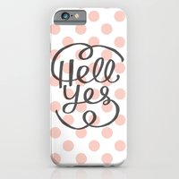 Hell Yes! (Peach) iPhone 6 Slim Case