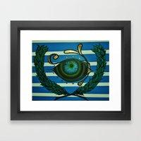 Eye, Greek Olive Framed Art Print