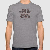 Home is where... Mens Fitted Tee Athletic Grey SMALL