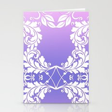 Leaves on Rose Powder Stationery Cards