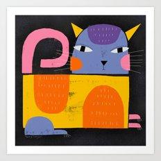 CLOWN CAT Art Print