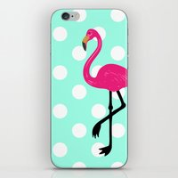 Dotty the Flamingo iPhone & iPod Skin