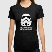 All Your Base Are Belong To Us Womens Fitted Tee Tri-Black SMALL
