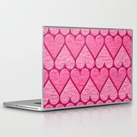 hearts Laptop & iPad Skins featuring Hearts by Harvey Warwick