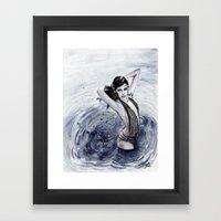 Blue Swim Framed Art Print