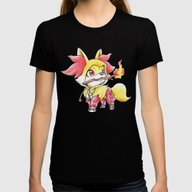 Flame Games Womens Fitted Tee Black SMALL