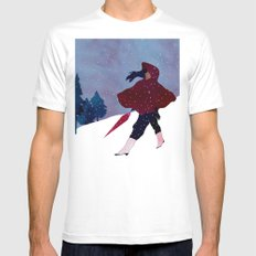 walking on snow Mens Fitted Tee SMALL White