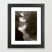 River gorge Framed Art Print