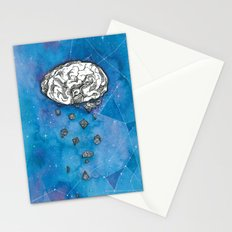 My brain in the cosmos Stationery Cards