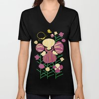 Floral Flower Artprint Unisex V-Neck