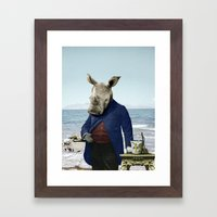 Mr. Rhino's Day At The B… Framed Art Print