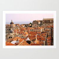 Dubrovnik, Croatia. Sunset. Art Print