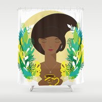 That first cup of coffee feeling Shower Curtain