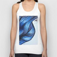 Abstract Hair Unisex Tank Top