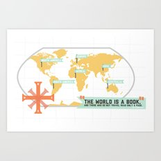The World is a Book Art Print