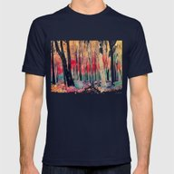 Woods Mens Fitted Tee Navy SMALL