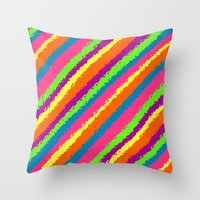 Crazy Colorz Throw Pillow