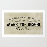The Details Are Not The … Art Print