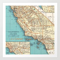 So Cal Surf Map Art Print