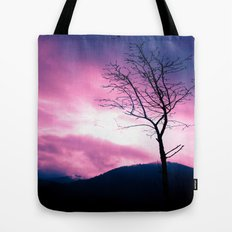 Into the Pink & Purple Sky  - JUSTART © Tote Bag