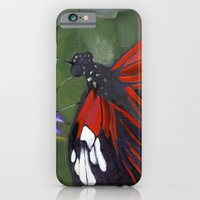 iPhone & iPod Case featuring Red and Black Butterfly by Jeannette Stutzman