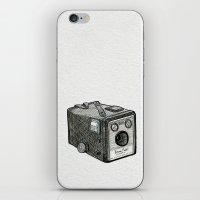Kodak Box Brownie Camera Illustration iPhone & iPod Skin