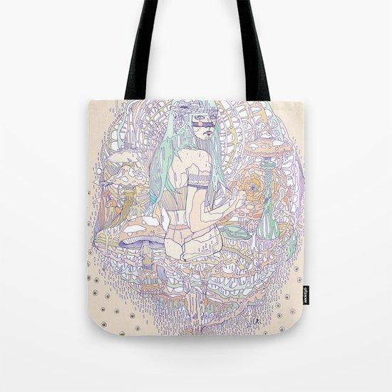 hues in moss Tote Bag