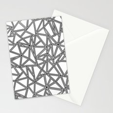 Abstract New Black on White Stationery Cards