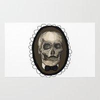 Dapper Skull  Rug