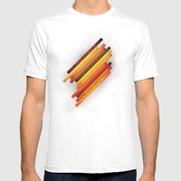 Vertical Grunge Mens Fitted Tee White SMALL