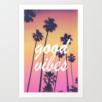 good vibes 3 Art Print