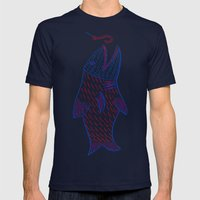 2002-08-07 HOOK, FISH Mens Fitted Tee Navy SMALL