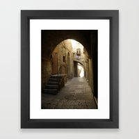 Jerusalem Archways Framed Art Print