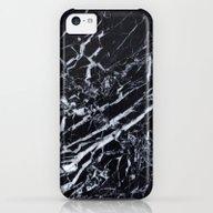 Real Marble Black iPhone 5c Slim Case