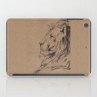 Lion Profile iPad Case