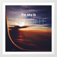 the sky is...  Art Print