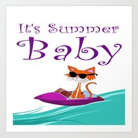 Its Summer, Baby Art Print