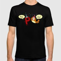 Happy Birthday!  Mens Fitted Tee Black SMALL