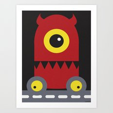 DEMON ON WHEELS Art Print